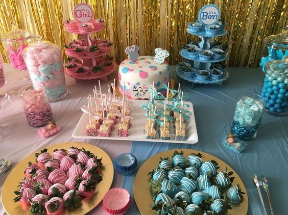gender reveal baby shower decoration